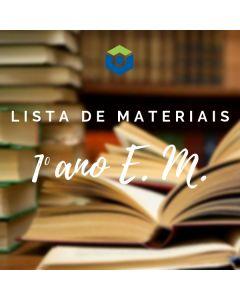 Lista de Materiais - 1º ano E. M.