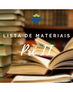 Lista de Materiais - Pré II